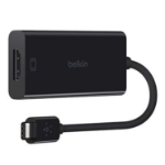 Belkin F2CU038BTBLK cable interface/gender adapter USB type C HDMI Black