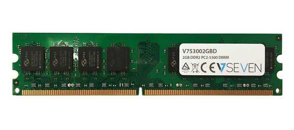 V7 2GB DDR2 PC2-5300 667Mhz DIMM Desktop módulo de memoria - V753002GBD