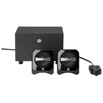 HP 2.1 Compact Speaker System 2.1channels Black speaker set