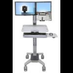 Ergotron WM Series WorkFit™ C-Mod, Combo Sit-Stand Workstation Grey