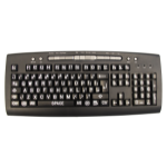 Hypertec K-HV-TW USB + PS/2 QWERTY English Black, Grey, White keyboard