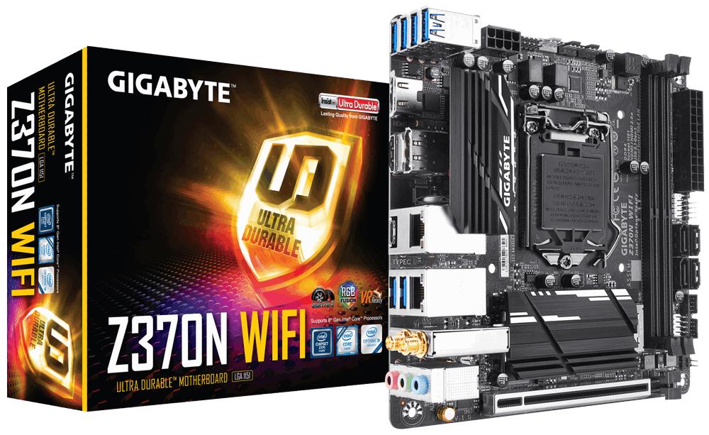 Gigabyte Z370N WIFI Intel Z370 LGA 1151 (Socket H4) Mini ITX