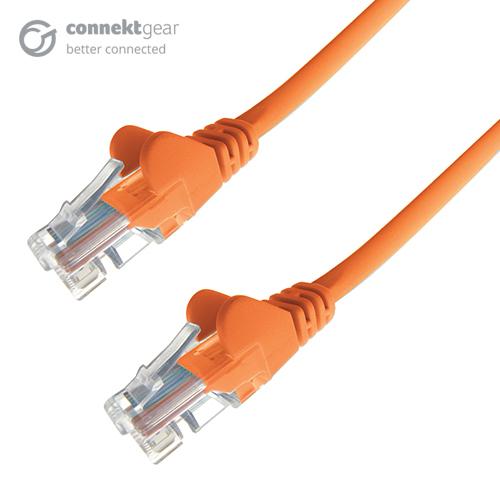 CONNEkT Gear 0.3m RJ45 CAT6 UTP Stranded Flush Moulded LS0H Network Cable - 24AWG - Orange