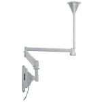 "Newstar Medical Monitor Ceiling Mount (Full Motion gas spring) for 10""-24"" Screen, Height Adjustable - Grey"
