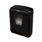 "Fellowes Powershred 6C paper shredder Cross shredding 8.66"" (22 cm) Black"