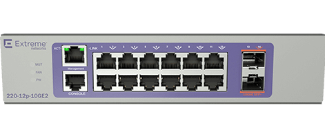 Extreme networks 220-12P-10GE2 Managed L2/L3 Gigabit Ethernet (10/100/1000) Bronze,Purple 1U Power o