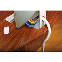 D-Line CABLE TIDY SPLIT FLEX 1.1M WHITE