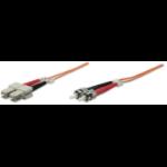 Intellinet Fibre Optic Patch Cable, Duplex, Multimode, ST/SC, 50/125 µm, OM2, 3m, LSZH, Orange, Fiber, Lifetime Warranty