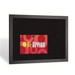 Bi-Office BI-SILQUE MEMOBOARD 600X900MM BLACK FRM