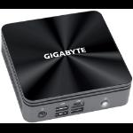 Gigabyte GB-BRI7-10710 PC/workstation barebone Black BGA 1528 i7-10710U 1.1 GHz