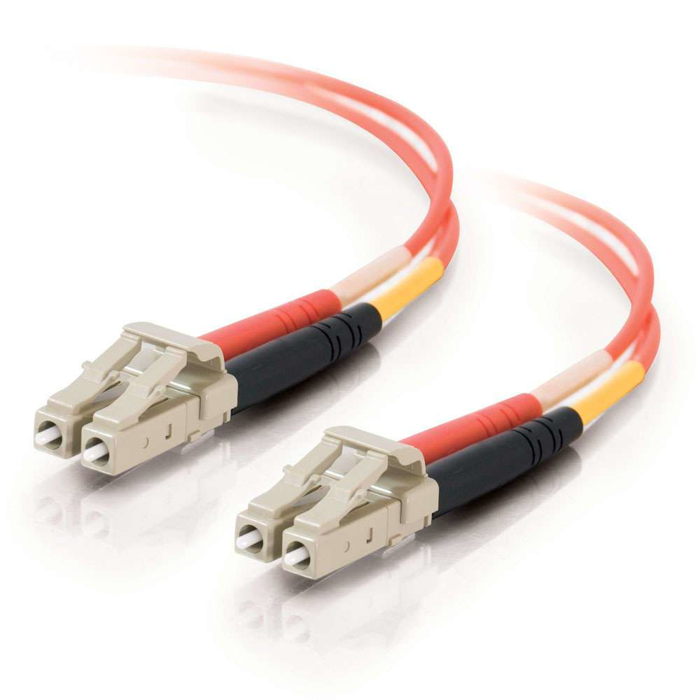 C2G 3m LC/LC LSZH Duplex 50/125 Multimode Fibre Patch Cable cable de fibra optica Naranja