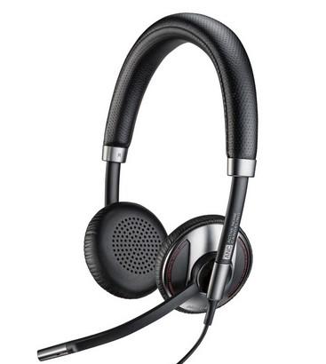 Plantronics C725-M Head-band Binaural Wired Black mobile headset