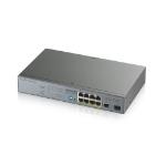 Zyxel GS1300-10HP Unmanaged Gigabit Ethernet (10/100/1000) Grey Power over Ethernet (PoE)