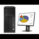 HP Z 240 MT + Z24n 3.5GHz E3-1245V5 Mini Tower Black