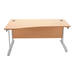 Arista Maple 1600mm Wave Desk Left Hand KF838644