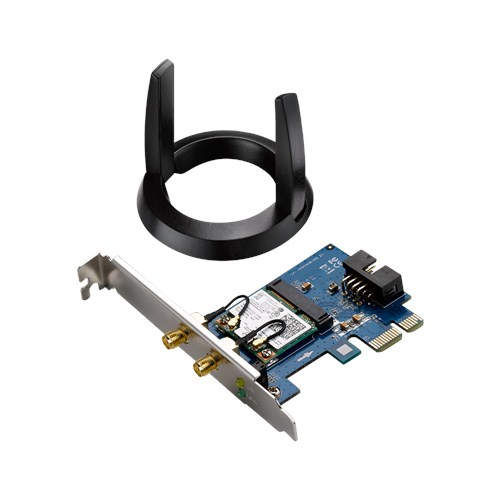 ASUS PCE-AC55BT - Network adapter - PCIe low profile - Bluetooth 4.0, 802.11ac, Bluetooth 4.0 LE