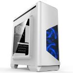 CIT Lightspeed White Case With Inbuilt LED Light System 2x LED Blue Fans USB3 X1