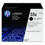 HP CE255XD (55X) Toner black, 12.5K pages, Pack qty 2