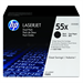 HP CE255XD (55X) Toner black, 12.5K pages, Pack qty 2