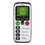 "Doro Secure 580IUP 1.8"" 100g White Senior phone"