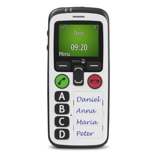 "Doro Secure 580 4.57 cm (1.8"") 100 g White Senior phone"