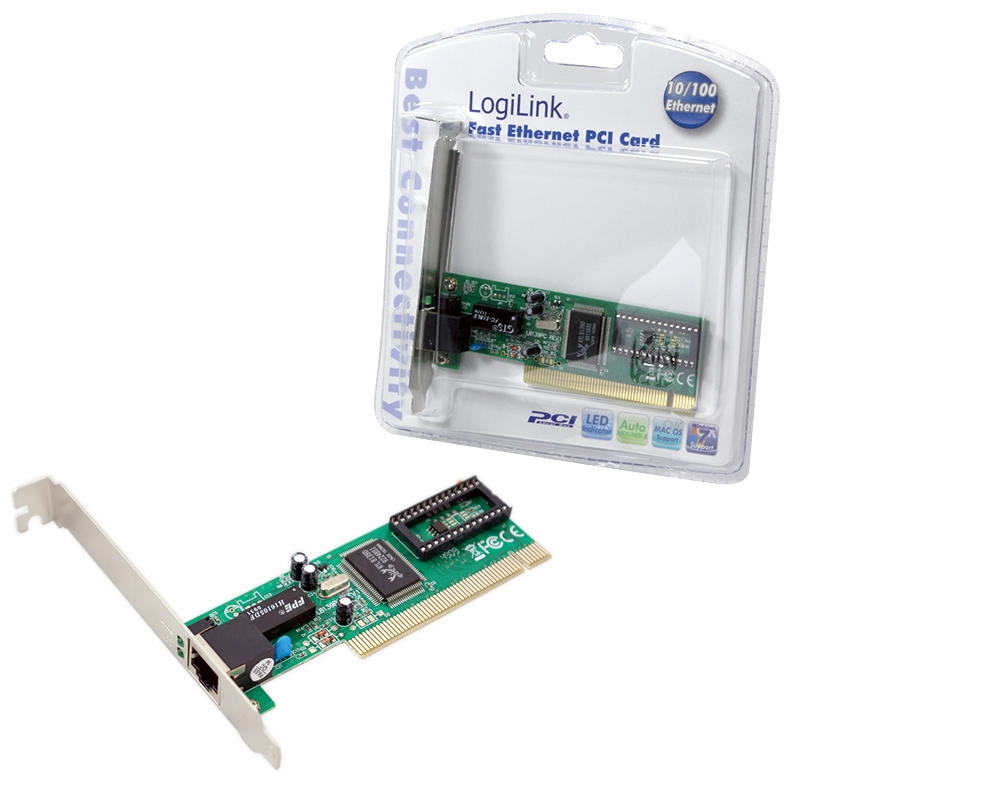 LogiLink PCI network card 100 Mbit/s Internal
