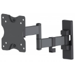"Manhattan Monitor/TV Wall Mount, Full Motion (3 pivots & tiltable), 1 screen, 13-27"", Vesa 75x75 to 100x100, Max 20kg, Black"