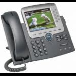 Cisco Unified IP Phone 7975G w/ 1 RTU License Black, Silver Caller ID