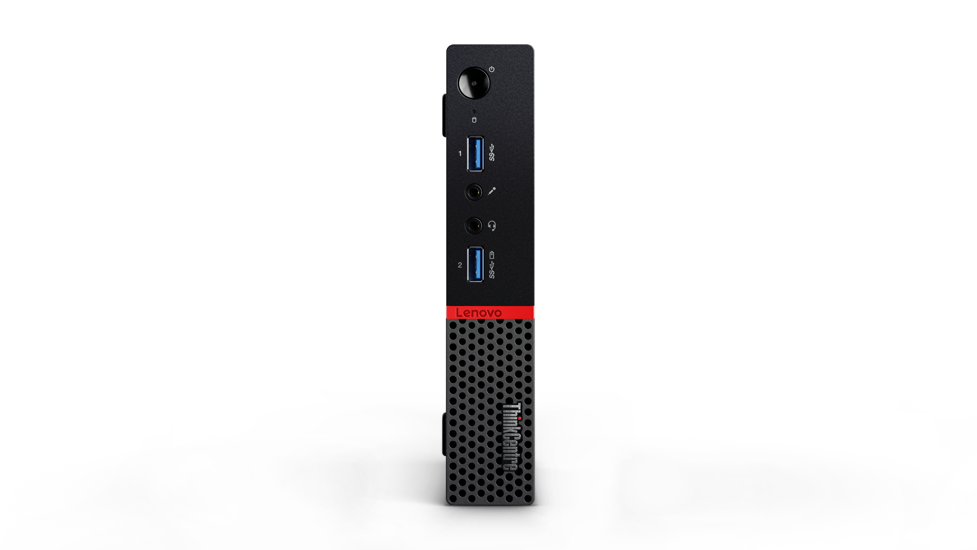 Lenovo ThinkCentre M700 3.2GHz i3-6100T 1L sized PC Black
