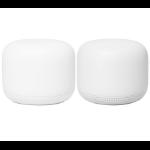Google Nest Wifi wireless router Gigabit Ethernet Dual-band (2.4 GHz / 5 GHz) White