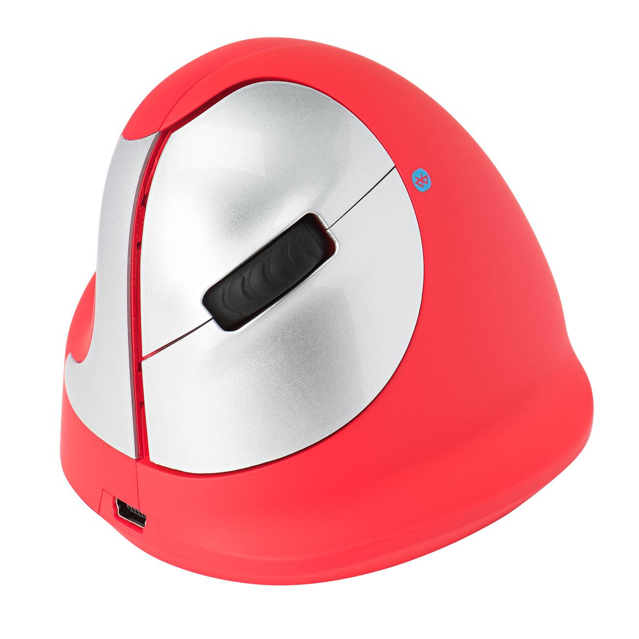 R-Go Tools R-Go HE Sport Ergonomische muis, Medium (Handlengte 165-185mm), Linkshandig, Bluetooth, Rood