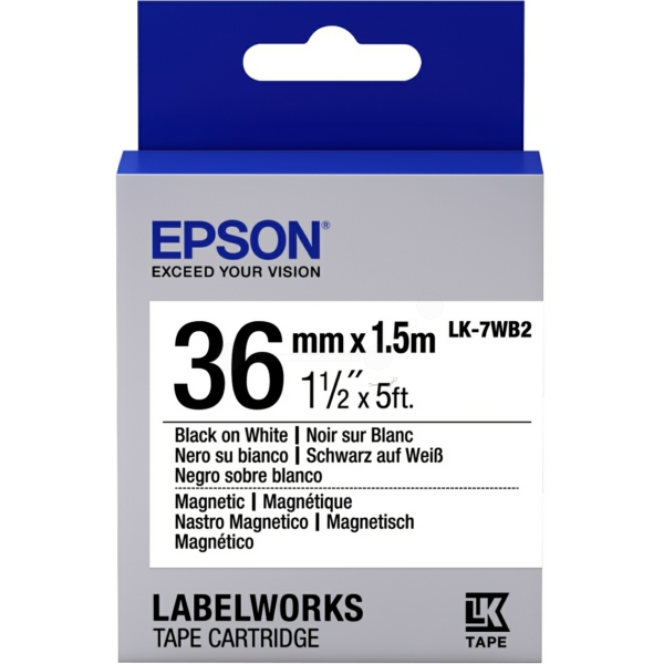Epson C53S657002 (LK-7WB2) Ribbon, 36mm x 1,5m