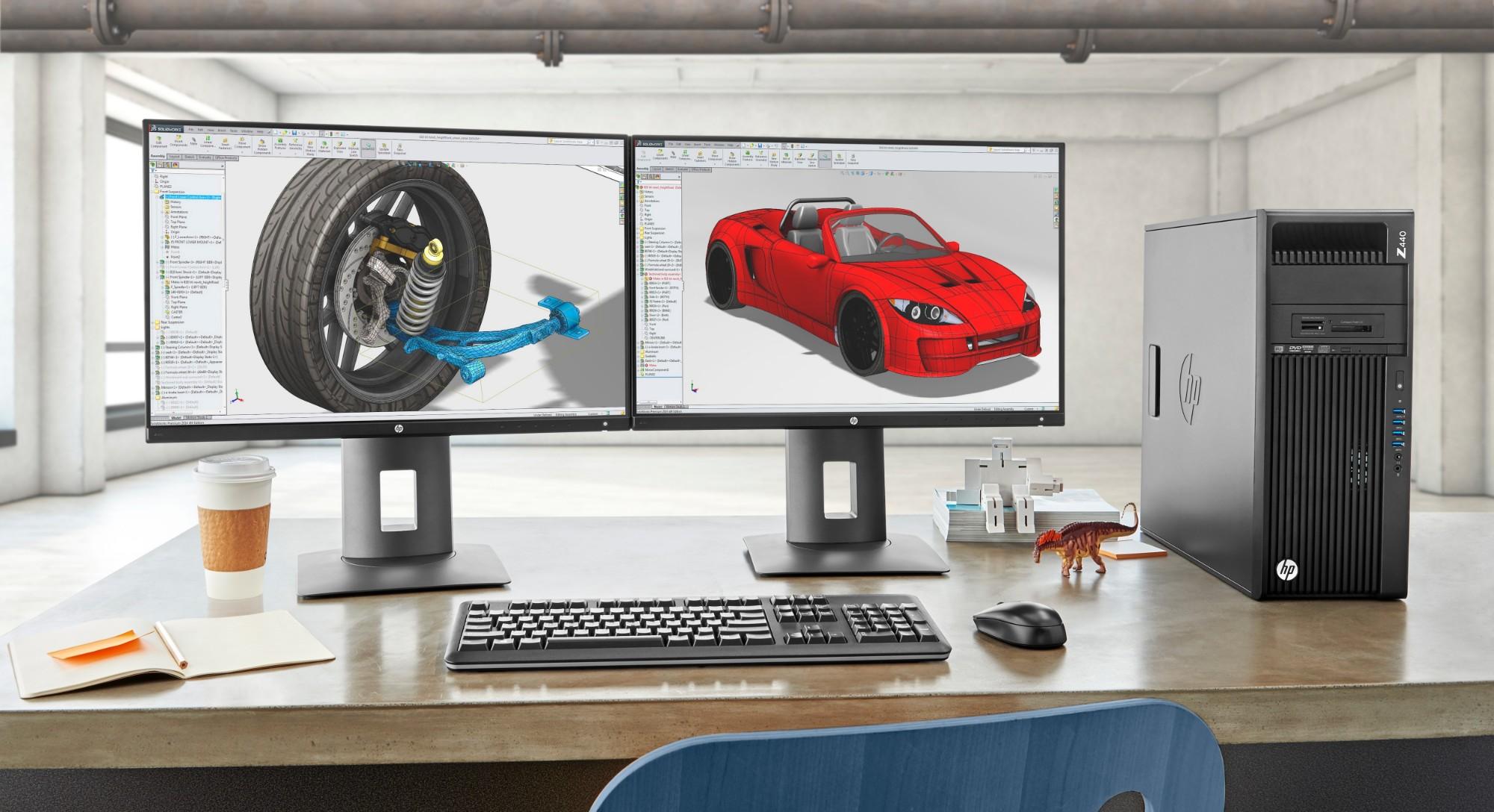 HP Z440 2 8 GHz Intel Xeon E5 v3 E5-1603V3 Black Mini Tower