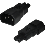 Cablenet IEC Male C14 to Figure of 8 Female C7 Power Adaptor