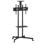 Inland 05446 multimedia cart/stand Multimedia cart/trolley Black Flat panel