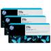 HP B6Y36A (771C) Ink cartridge bright cyan, 775ml, Pack qty 3