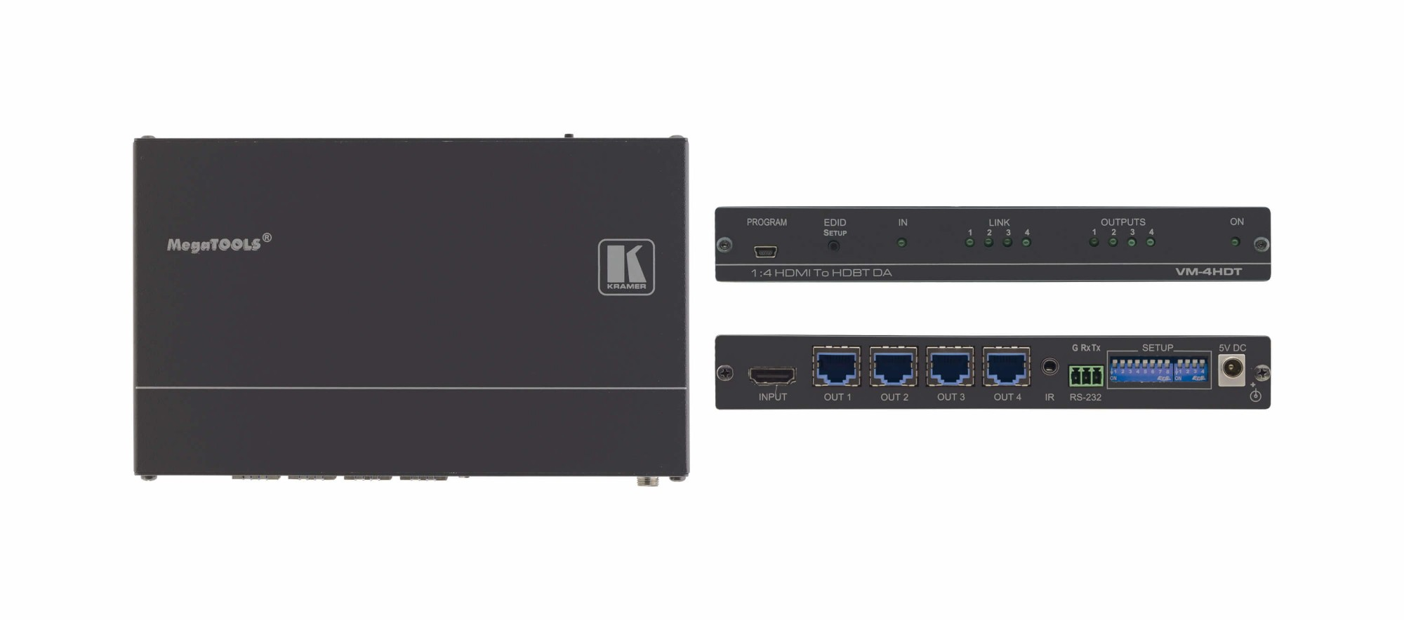 1:4 4k Uhd Hdmi To Hdbase Distribution Amplifier