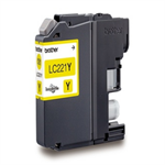 Brother LC-221Y Ink cartridge yellow, 260 pages, 4ml LC221Y