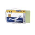 Durable Dual Card Hldr Sec/ID pass Clear