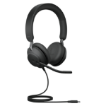Jabra Evolve2 40, MS Stereo Headset Head-band Black