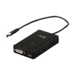 iTEC U3TRAVELDOCK2 USB 3.0 (3.1 Gen 1) Type-A Black notebook dock/port replicator