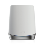 Netgear Orbi WiFi6 Satellite 2400 Mbit/s Network repeater Stainless steel, White