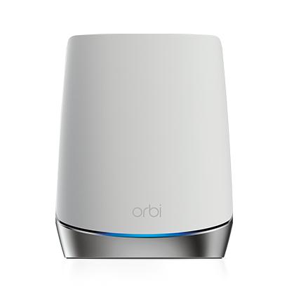 Netgear Orbi WiFi6 Satellite 2400 Mbit/s Network repeater Stainless steel, White