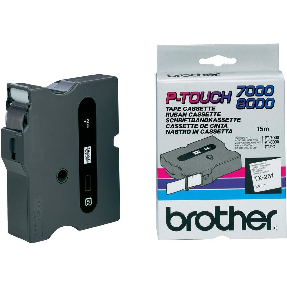 Brother TX-251 P-Touch Ribbon, 24mm x 15m