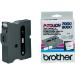 Brother TX-251 cinta para impresora de etiquetas Negro sobre blanco