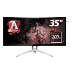 "AOC Gaming AG352QCX computer monitor 88.9 cm (35"") 2560 x 1080 pixels QXGA LED Curved Matt Black,Silver"