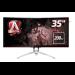 "AOC Gaming AG352QCX computer monitor 88.9 cm (35"") 2560 x 1080 pixels QXGA LED Curved Matt Black,Silver"