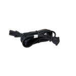 """POLY 250V AC, UK Black 90.6"""" (2.3 m)"""