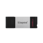 Kingston Technology DataTraveler 80 USB flash drive 256 GB USB Typ-C 3.2 Gen 1 (3.1 Gen 1) Schwarz, Silber
