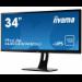 """iiyama ProLite XUB3490WQSU-B1 AH-IPS 34"""" Black Wide Quad HD LED display"""